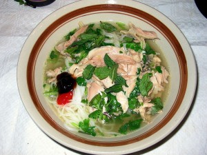 chicken pho 300x225   Pho at its best  Mekong Delta is a taste of Heaven