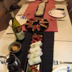 IMG 1230 150x150   Dinner Party: summer rolls, snails, smoked trout, shrimp, lamb loin chops and potatoes