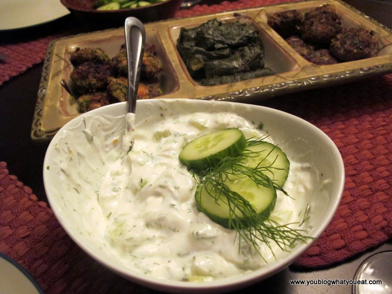 Tzatziki (Greek yogurt / cucumber dip) | you blog what you eat