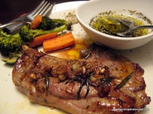 orange marinated lamb with roasted veggies 300x225   Orange Glazed Lamp Chops
