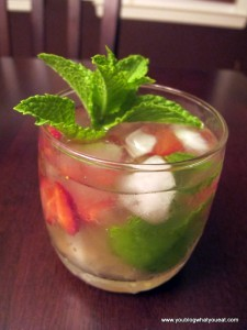 strawberry ginger basil mint cocktail 225x300   Ginger Basil Simple Syrup