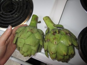 vietnamese food and may weekend 003small 300x225   Artichokes  Easy and Delcious